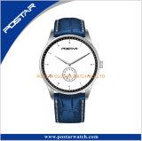 Планка просто wristwatch кварца способа Европ типа северного кожаный