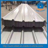 Cor dos materiais de construção de telhado de metal galvanizado aço corrugado revestimentos descontínuos de folhas
