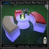 Moderna silla recargable de cubo RGB LED iluminado muebles