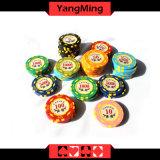 Exas Hold' EM-Metallschürhaken-Chips für Kasino-Spiel mit Zahl-Kasino bricht Ym-Dz001 ab