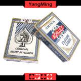Cartões de jogo pretos dedicados Ym-PC07 do póquer do papel de núcleo da importação de Coreia/póquer do casino