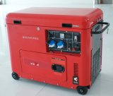 Generatore elettrico diesel portatile certo raffreddato aria 5kw del collegare di rame della fabbrica BS6500dsec 5000W 5kv dell'OEM del bisonte (Cina)
