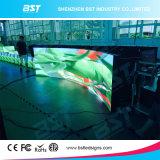 Hoher gebogener örtlich festgelegter LED Innenbildschirm der Helligkeits-P5