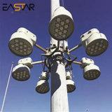 20m 25m 28m 30M mât élevé de l'éclairage à LED utilisé pour la zone publique