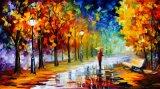 Fleuve 2017 à travers la peinture à l'huile d'horizontal d'impression de toile de paysage de ville
