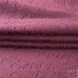 Tessuto di /Cotton delle lane con il tessuto del jacquard in rosso-cupo