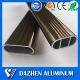 Perfil de alumínio de alumínio de suspensão da extrusão da câmara de ar do Wardrobe oval com anodizado