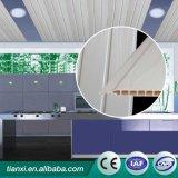 Materiais de construção plásticos, painel de parede em forma de madeira, painel de tecto de PVC