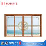 Раздвижная дверь профиля роскошных следов конструкции 2 алюминиевая для виллы