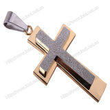 남자 또는 여자 (IO st00I)를 위한 이탈리아 종교적인 신자 보석 펜던트, 은 또는 금 고품질 316 스테인리스 십자가