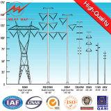 Heißes BAD galvanisierter Stahlpole für Netzverteilung