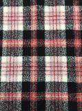 Alistar/rojo, negro y blanco clásicos de la tela de las lanas de la verificación de las existencias
