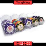 El acrílico transparente dedicado de la viruta de póker de la arcilla del casino friega la combinación libre Ym-CT12 de caja de las virutas