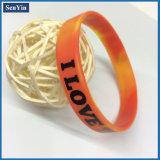 Fulgor 2016 de venda quente no bracelete impresso escuro da forma do silicone