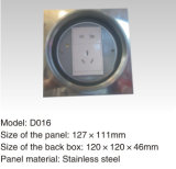 Estalar acima a caixa elétrica do soquete de potência do assoalho da liga do tanoeiro de 232*122mm