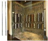 Bâti fixé au mur d'Étage-à-Plafond de crémaillère de cave de bouteille d'étalage en métal