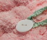 Супер-Absorbent Coral полотенце волос ватки с ушами зайчика (с шнурком)