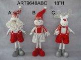 """산타클로스, 눈사람 및 큰사슴 크리스마스 훈장 선물을 서 있는 18 """" H"""
