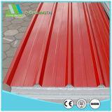 鋼鉄EPS/Rockwool/Glasswool/PUサンドイッチパネルに屋根を付ける建築材料
