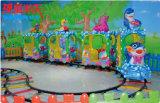 娯楽14のシートが付いている屋外の運動場の子供の海洋トラックトレイン