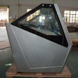 A porta corrediça Gelato Showcase/Sorvete de porta de vidro curvo frigorífico (QP-BB-14)