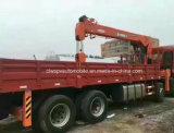 Auman 8X4の頑丈な貨物トラックはクレーン14トンのと取付けた