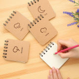 Lujo de encargo barato mini cuaderno espiral Impresión