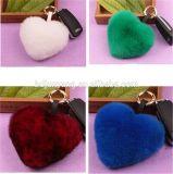 Fascino Keychain simile a pelliccia del telefono mobile e del sacchetto della catena chiave del cuore degli amanti