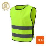 La police de la circulation uniforme jaune faite sur commande, uniforme élevé d'usure de travail de gilet de visibilité