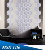 Плитка Mskqhc002 шестиугольника пола Blue&White Ink-Jet