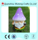 Adorável Jardim Decoração personalizada cogumelo de resina Santa Claus Figurine