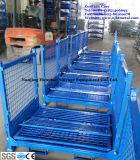 Kooi van de Pallet van het Netwerk van de Draad van het Gebruik van het Pakhuis van het Type van Container van de draad de Op zwaar werk berekende