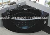 1470mm de Zwarte Jacuzzi van de Hoek met Ce en RoHS (bij-9052TV)