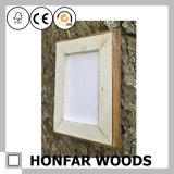 Frame de retrato gasto da madeira contínua da arte da parede com montagem