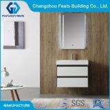 Haute brillance Salle de bains blanche armoire murale populaire salle de bains européenne Cabinet avec miroir lumineux pour LED de la vanité Cabinet (#BC18-750AH-30)