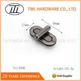 Langer Griff-ovaler Metallhandtaschen-Torsion-Verschluss-Metalldrehung-Verschluss