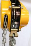 新しいデザイン10トンの金属のホックが付いている手動チェーン起重機