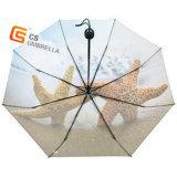 3折るマニュアルの開いた熱い転送の印刷ファブリック傘(YS-3F1003A)