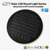 luz redonda solar do diodo emissor de luz 20W com Bluetooth APP