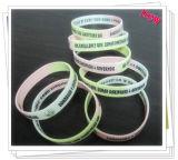 Il Wristband impresso del silicone con il cliente progetta (YB-SW-40)