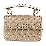 ヨーロッパ式の実質の革ハンドバッグは金属の鎖Emg4896が付いている女性ショルダー・バッグを散りばめた