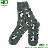 Calcetines de encargo del equipo del algodón de la Navidad de la nieve