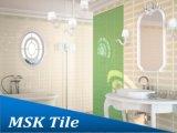 mattonelle lustrate di ceramica verde mela della parete di lucentezza di 100X300mm