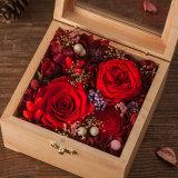 Contenitore di regalo di legno del fiore per la decorazione di natale