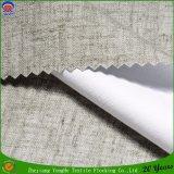 Tissu de toile tissé de rideau en arrêt total de franc d'enduit de polyester pour l'hôtel avec le prix usine