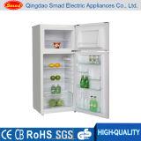 Установленные верхние размораживают холодильник холодильника двойной двери