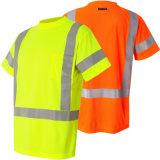 Le circuit élevé fluorescent de visibilité gaine les T-shirts r3fléchissants de sûreté de qualité