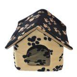 Casa polar do animal de estimação do velo para o cão & o gato