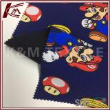 Tessuto di Softshell del panno morbido della stampa 100d del reticolo di Mario micro