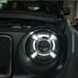 Lantsun R017 Farol LED HID com DRL e projetor Bi-xénon para Jeep Renegade 2015-2017